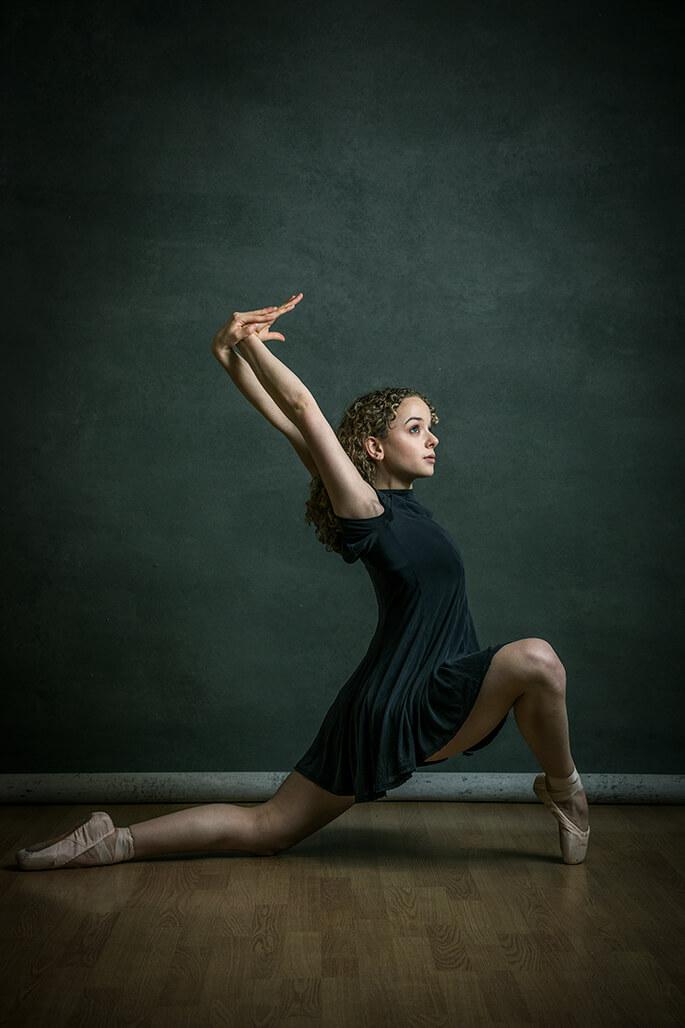 girl dancing in black dress