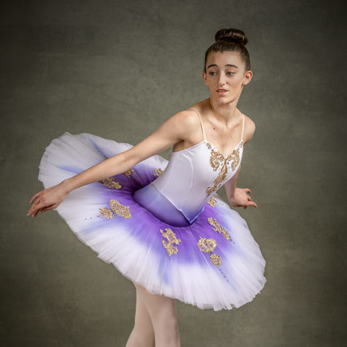 girl dancing in tutu