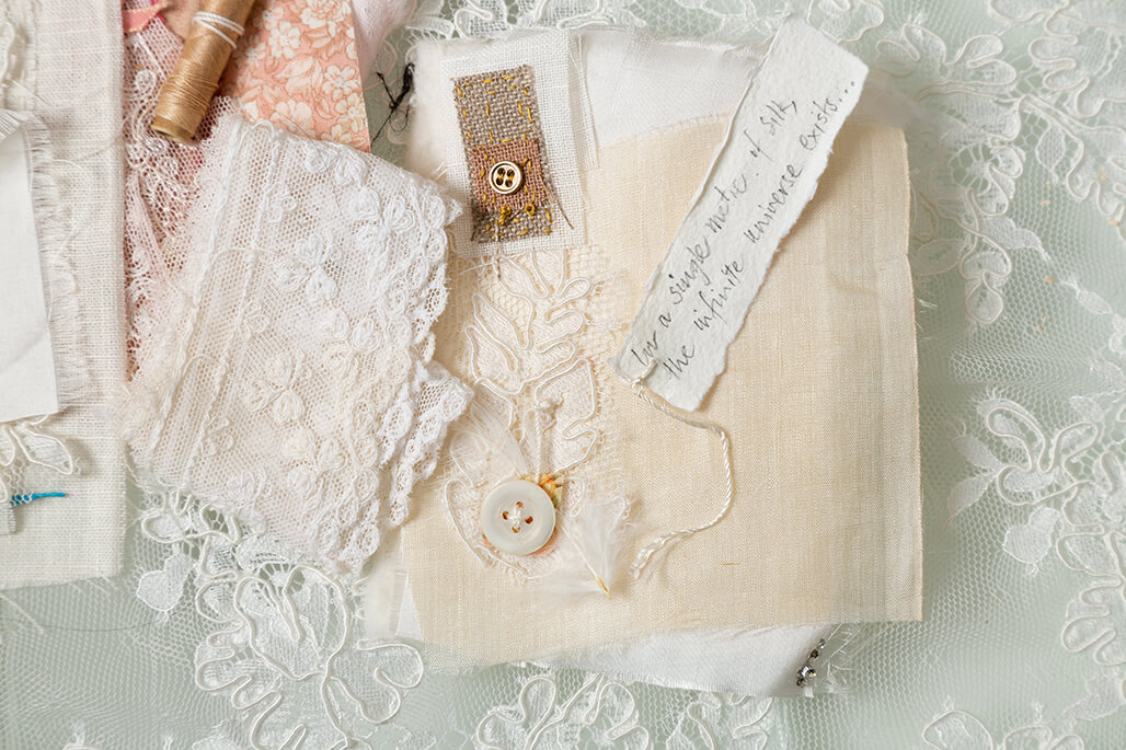 buttons and textiles