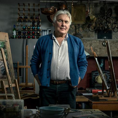 man standing in art studio