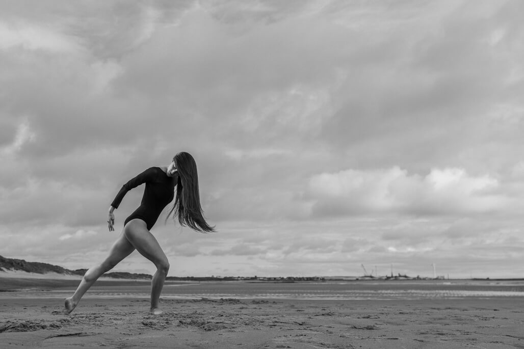 `Female dancer on the beach