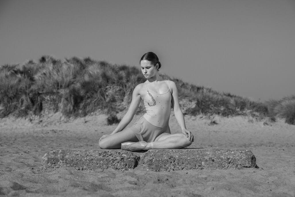 Female dancer on the beach