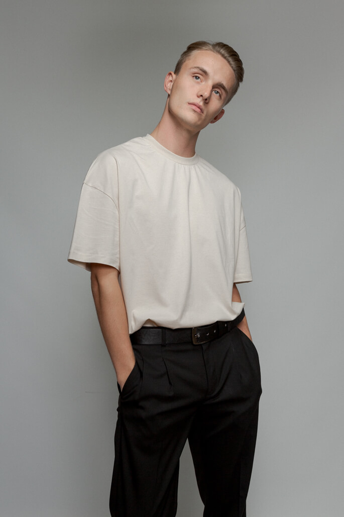 Male model in studio