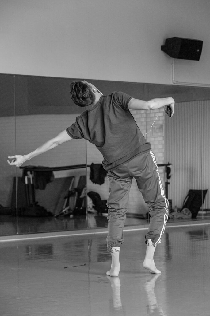 Dancers in dance studio