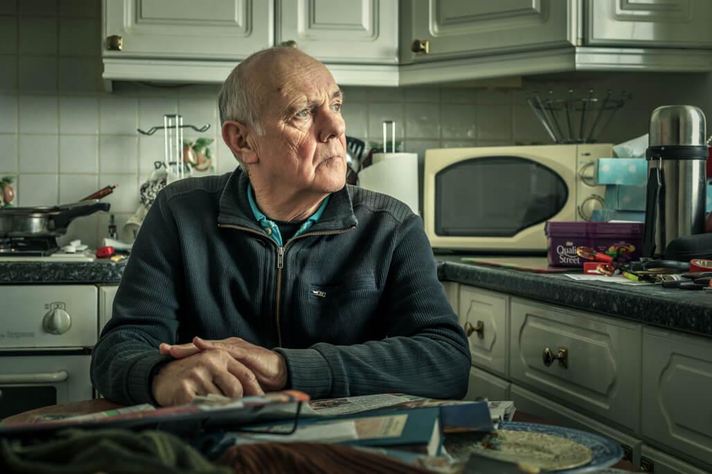 Environmental Portraiture of man in kitchen